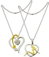 Men Style Couple Heart Shape Girl And Arrow in Heart Titanium Titanium Pendant Set best price on Flipkart @ Rs. 999