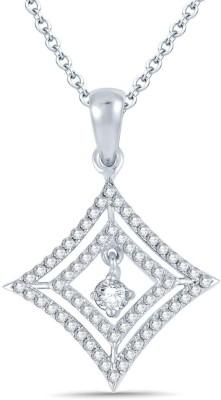 Bright Fashion Divya Collection Rhodium Sterling Silver Pendant