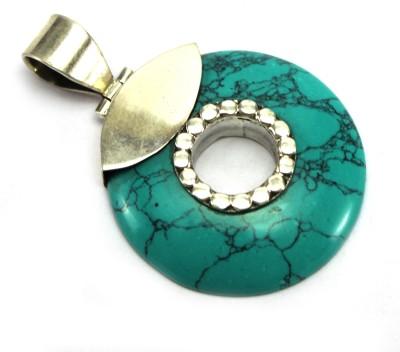 GnJ Circular Ring Onyx Sterling Silver Pendant