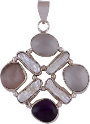 Silver Prince Designer Crystal, Amethyst, Quartz Silver Pendant