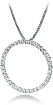 Amogh Jewels White Gold Diamond Sterling Silver Pendant at flipkart