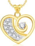 VK Jewels Stone in Heart 18K Yellow Gold...