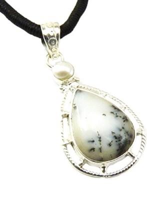 Miska Silver Designer Plated Silver Pearl Silver Pendant