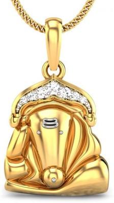 Candere Siddhivinayak 14kt Diamond Yellow Gold Pendant