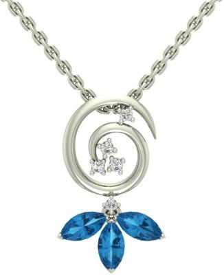 Jewels5 Nitra Diamond White Gold Pendant