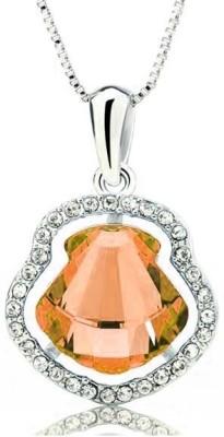Merastore Style Diva Rhodium Swarovski Crystal Alloy Pendant