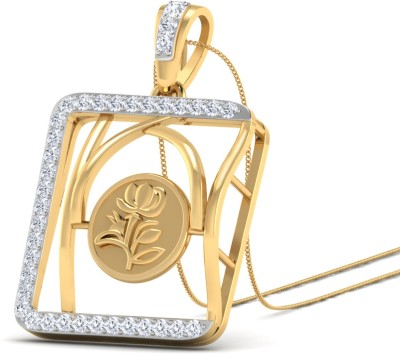 WearYourShine by PC Jewellers The Venya 18kt Diamond Yellow Gold Pendant at flipkart