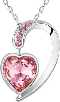 Yellow Chimes Heart Inside Heart Rhodium Swarovski Crystal Alloy Pendant best price on Flipkart @ Rs. 1100