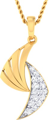 Damor Warm-Hearted 18kt Diamond Yellow Gold Pendant