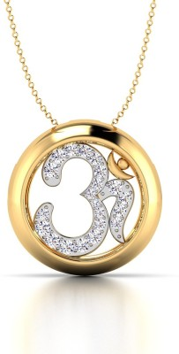 CaratStyle Ek Omkara 18kt Diamond Yellow Gold Pendant
