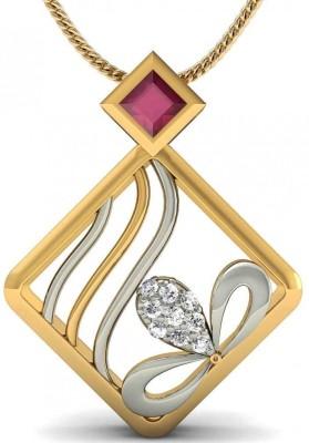 Rasav Jewels Creative Designs 18kt Diamond, Ruby Yellow Gold Pendant