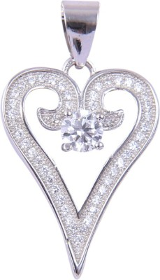 Abhooshan Tender Heart Sterling Silver Sterling Silver Pendant