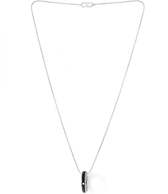 Dare for Voylla Artificial Classic Plain Silver Cubic Zirconia Stainless Steel Pendant at flipkart