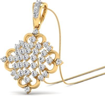 WearYourShine by PC Jewellers The Zahra 18kt Diamond Yellow Gold Pendant at flipkart