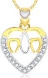 VK Jewels Three Heart 18K Yellow Gold Cu...