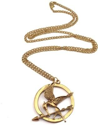 Via Mazzini Famour Hunger Game Golden Mockingjay Bird Pendant (NK0385) Metal