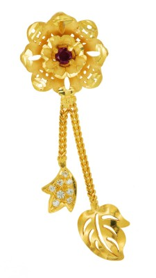 Spot Dealz Floral Essence Cubic Zirconia Yellow Gold