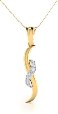CaratStyle Thrifty Kromme 18kt Diamond Yellow Gold Pendant