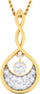 Damor Prepossesing 14kt Diamond Yellow Gold Pendant