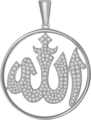 Vijisan 6.06 Ct.Islamic Allah Religious 18K White Gold Cubic Zirconia Sterling Silver Pendant at flipkart