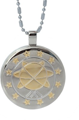 Aarogyam Energy Jewellery Magnetic MST Silver, Yellow Gold Stainless Steel Pendant
