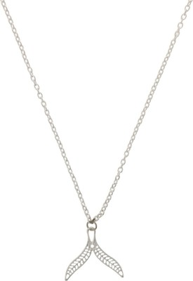 Niara Silver Chain With Leaf Shaped Brass Locket