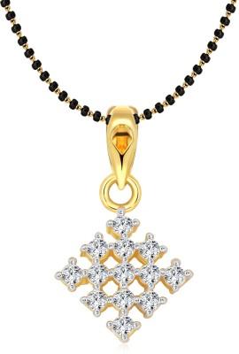 Vighnaharta 18K Yellow Gold Cubic Zirconia Alloy Pendant