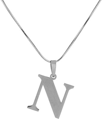 Voylla Artificial Classic Glossy Silver Stainless Steel Pendant at flipkart
