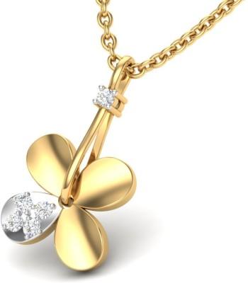 Theme Jewels LPT-0161-14KY 14kt Diamond Yellow Gold Pendant