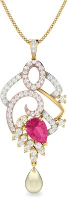 WearYourShine by PC Jewellers PC Jeweller The Catrionna 18kt Diamond, Ruby Yellow Gold Pendant at flipkart
