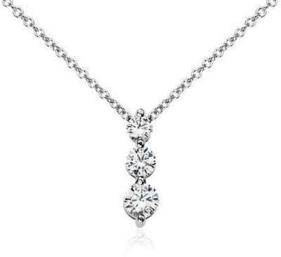 Zevrr Platinum Swarovski Crystal Sterling Silver Pendant at flipkart