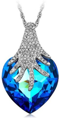 TGI Fashion Rhodium Swarovski Crystal Copper