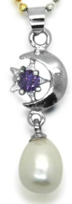 Prisha Silver Pearl Copper Pendant