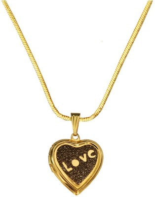 Being Women Openable Heart Fashion Yellow Gold Alloy Pendant