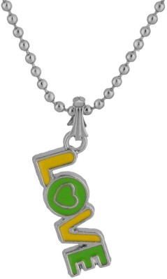 Voylla Artificial Classic Textured Silver Alloy Pendant at flipkart