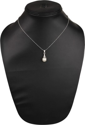 Anakar Stylish & trendy Silver Crystal Pendant Set