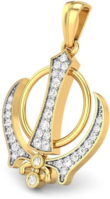 S S Jewellers Reilgious Collection 22K Yellow Gold Swarovski Crystal Sterling Silver Pendant at flipkart