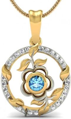 Rasav Jewels Creative Designs 18kt Diamond, Topaz Yellow Gold Pendant