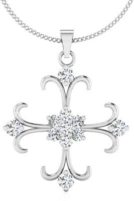 IskiUski Santa 14kt Swarovski Crystal White Gold Pendant(White Gold Plated) at flipkart