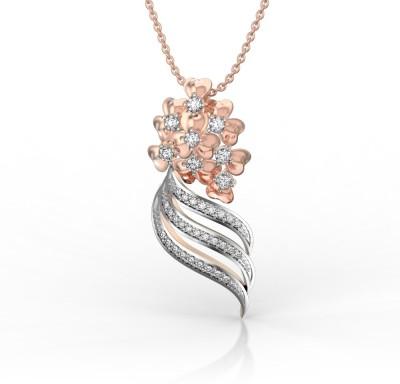 I Love Diamonds Radiant Bouquet Wrap 18K Rose Gold Diamond Rose Gold Pendant