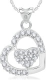 VK Jewels Dual Heart Silver Cubic Zircon...