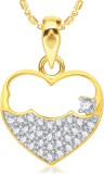 VK Jewels Open Heart 18K Yellow Gold Cub...