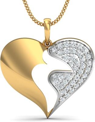 Dishis Designer Jewellery Fortune-The Desire 18kt Diamond Yellow Gold Pendant