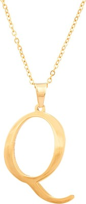 Voylla Artifictial Simplicity Plain Yellow Gold Alloy Pendant at flipkart