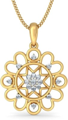 BlueStone The Naaval 18kt Diamond Yellow Gold Pendant at flipkart