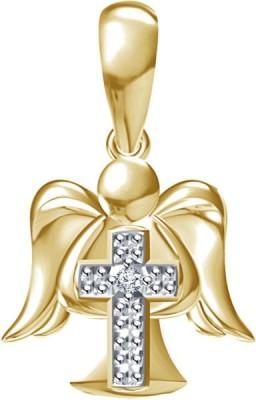 Devina Jewels Cross & Angle Platinum Diamond Sterling Silver Pendant