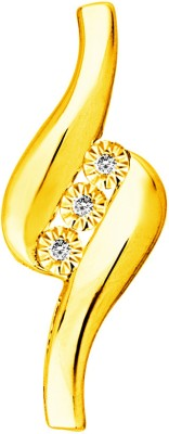 Jpearls Three Piece Real 18kt Diamond Yellow Gold Pendant available at Flipkart for Rs.7574