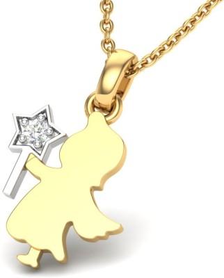 Theme Jewels LPT-0156-18KY 18kt Diamond Yellow Gold Pendant