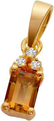 Surat Diamond Something Special Yellow Gold Diamond, Topaz Yellow Gold Pendant