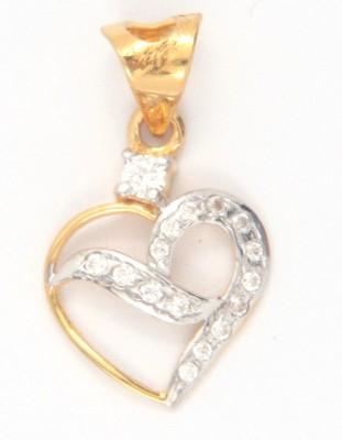Bhurmal Aidanmal Jewellers Love Forever 18kt Cubic Zirconia Yellow Gold Pendant
